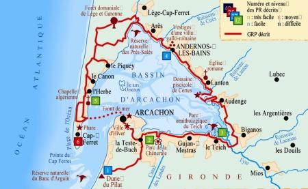 Carte Bordeaux Arcachon.Roller N Go